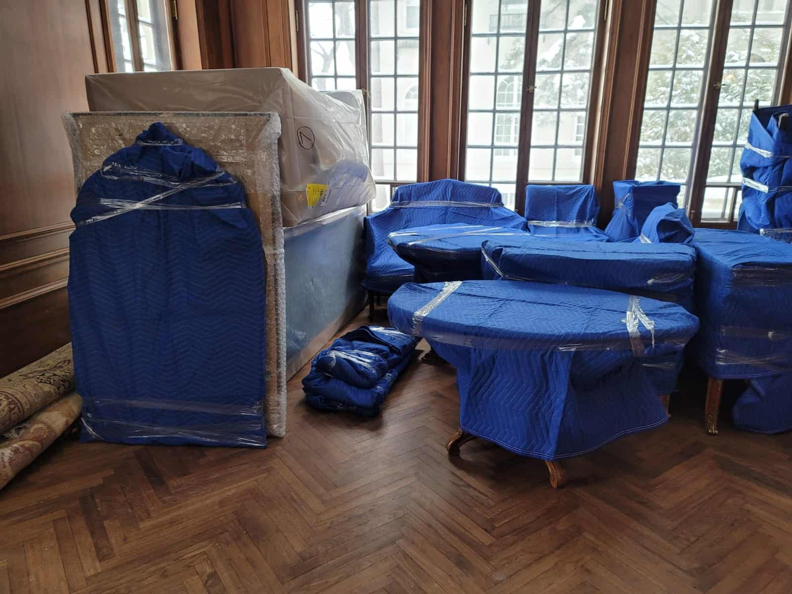 Furniture assembly and furniture wrapping